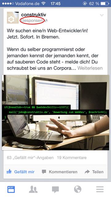 Mobile Facebook Ad
