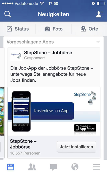 Mobile Facebook Ads