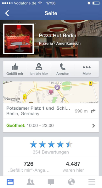 Pizza Hut Check ins Berlin