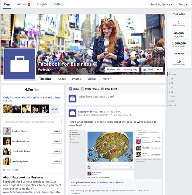 Facebook Pages Redesign 2014 (Quelle: Facebook)