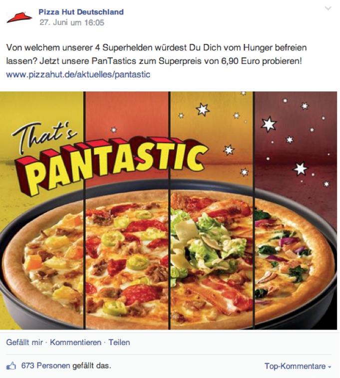 Image-Post mit Verweis zur Pizza Hut Website