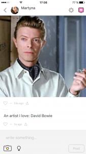 Peach David Bowie