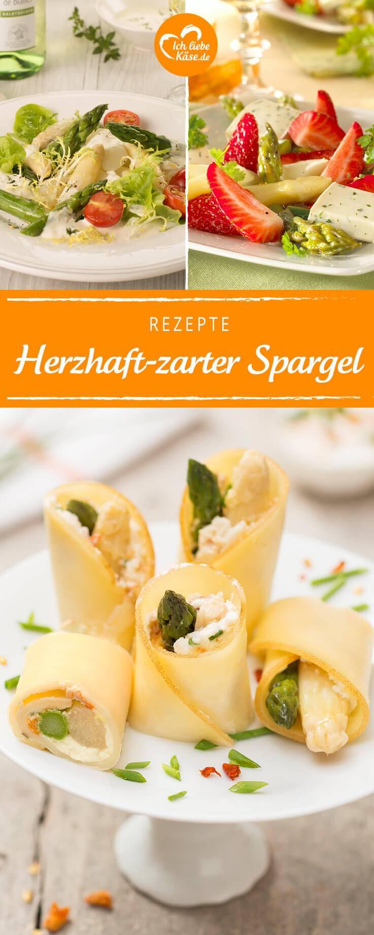 Spargelrezepte auf Pinterest - natürlich mit leckerem Käse
