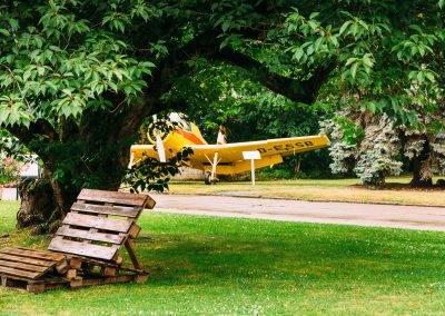 Der Campus mit dem Fachbereich Landwirtschaft ist geprägt durch das Agrar-Flugzeug