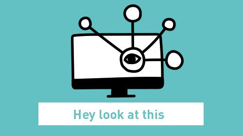 Bildschirm mit Augenicon