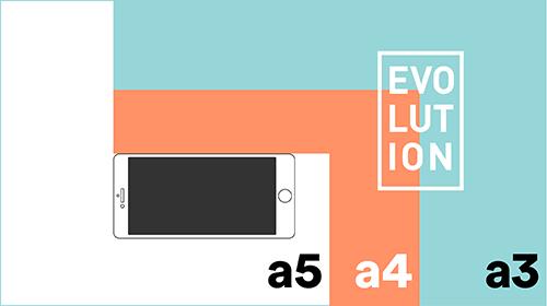 Formatgrößen Papier und Handy im Vergleich