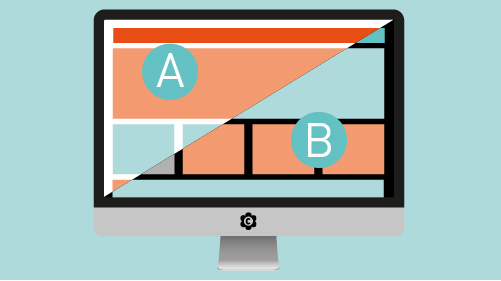 A/B- Testing mit buntem Bildschirm