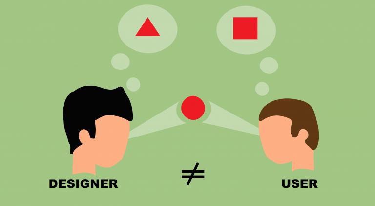 Ux-Webdesigner sieht anders als der User