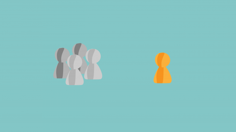Darstellung einer Gruppe von Spielfiguren