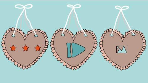 Liebe verbreiten: Lebkuchenherzen mit Icons