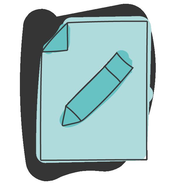 Papier mit Stift