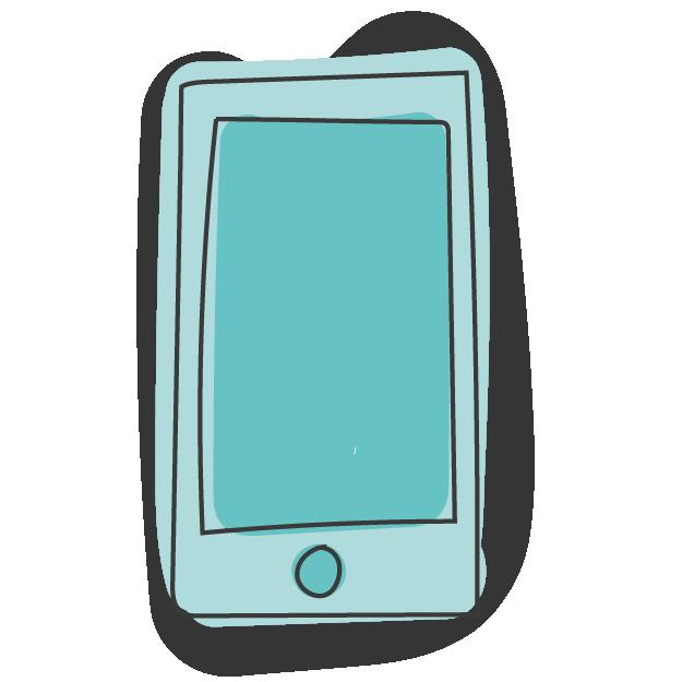 Smartphone zeigt Ziffer Eins