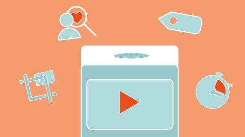 Play Button ist umgeben von Best Practice Icons