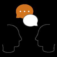 Icon zeigt Köpfe mit Sprechblasen