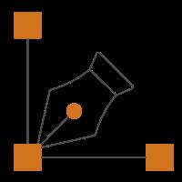 Icon zeigt verbundene Punkte mit Füller